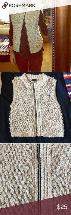 Shag Vest with Zipper Good condition, could fit s-m Topshop Jackets & Coats Vests