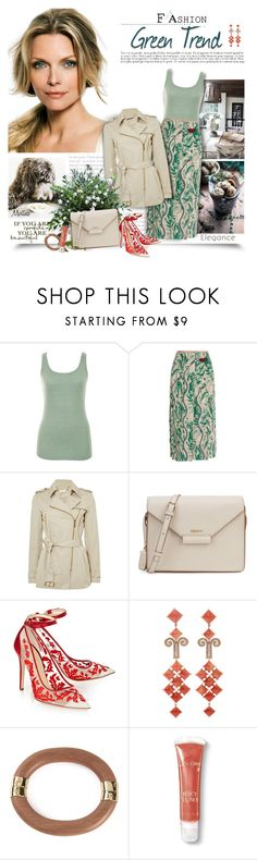 """""""Green Trend"""" by thewondersoffashion ❤ liked on Polyvore featuring A