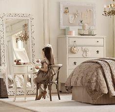 I want the vanity. Lucie Mini Vanity | Desks & Vanities | Restoration Hardware Baby & Child