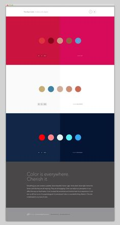 30 Minimal Website Designs http://www.thedayscolor.com/#top