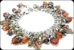 Autumn Jewelry, Fall Bracelet, Fall Jewelry, Pumpkin Jewelry - Blackberry Designs Jewelry
