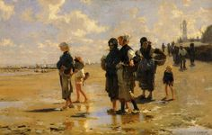 "John Singer Sargent (1856-1925) The Oyster Gatherers of Cancale Oil on canvas 1878 79.06 x 107.95 cm (31.13"" x 42½"") Corcoran Gallery of Art..."