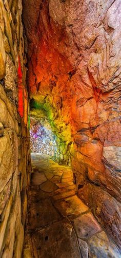Rainbow Hall  ~ This comes from Rock City Gardens atop Lookout Mountain, where you can see into seven states, St. Elmo, Chattanooga, Tennessee by Kay Gaensler