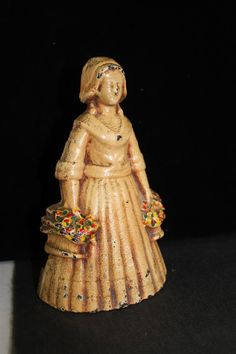 Cast iron small Victorian lady