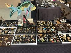 Vintage jewelry at the Lincoln Road Farmers Market