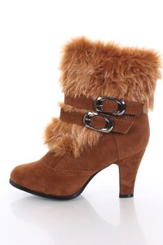 Tan Faux Fur Boots