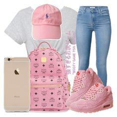 """""""i hear your color was pink .. """" by trap-ical ❤ liked on Polyvore featuring MCM and NIKE"""