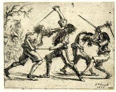 Sword fight, 1656