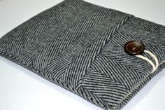 """Organic Wool herringbone 11""""Chromebook Sleeve Cover,11 inch MacBook Air or Microsoft Surface Case, surface pro 3 case, 11.6 inch laptop case by RCRAFTSS on Etsy"""