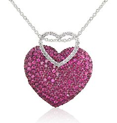 I want a box full of more EFFY jewelry pieces. This necklace is gorgeous.. Rubies, diamonds and 14kt white gold. I'd wear that!