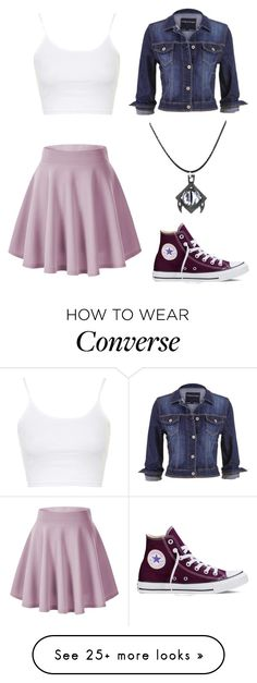 """Meet me :)"" by angela229 on Polyvore featuring Topshop, Converse, maurices, women's clothing, women, female, woman, misses and juniors"