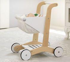 wooden shopping cart // potty barn kids