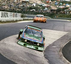 """""""Rolling in… Albrecht Krebs / Dieter Quester, BMW 3.5 CSL, Memphis Team International - BMW Schnitzer, 1000km of the Nürburgring, The eventuall race winner enters the famous Karussell,..."""