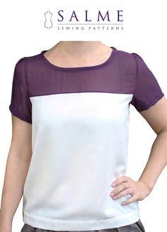 PDF Sewing pattern  Color Block Tshirt by Salmepatterns on Etsy, $7.00
