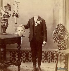bizarre vintage headless photos is this one of thoses funny Post-mortem Photography . well i am not laughing. Victorian Photos, Antique Photos, Vintage Pictures, Vintage Photographs, Old Pictures, Victorian Era, Creepy Old Photos, Victorian Photography, Vintage Halloween Photos