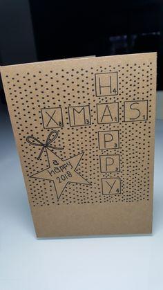 Kerst Chrismas Cards, Simple Christmas Cards, Noel Christmas, Christmas Quotes, Diy Christmas Decorations, Christmas Crafts, Diy Postcard, Diy Cadeau, Karten Diy