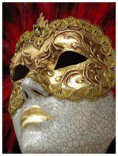 Venetian mask by GordonBeer on DeviantArt Venetian Carnival Masks, Venetian Masquerade, Masquerade Masks, Half Mask, Antique Perfume Bottles, Fractal Art, Lion Sculpture, Sculptures, Tattoo Designs