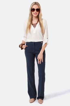 In The Crow's Nest Navy Blue Pants