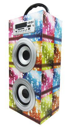 Altavoz Caja Portátil con Bluetooth, Radio, SD, USB, MP3, Inalámbrico y Con Batería Recargable 99618 - http://complementoideal.com/producto/audios/altavoz-caja-portatil-con-bluetooth-radio-sd-usb-mp3-inalambrico-y-con-bateria-recargable-99618/  -  Altavoz Portátil Bluetoothcon el que podrás escuchar toda tu música sin necesidad de cables y en cualquier lugar, conecta todos tus dispositivos mediante la tecnologíaBluetooth fácilmente y comienza a divertirte.