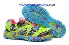 Womens Asics Gel Noosa TRI 8 Racing Running Shoes Volt Pink Chlorine Blue Confetti