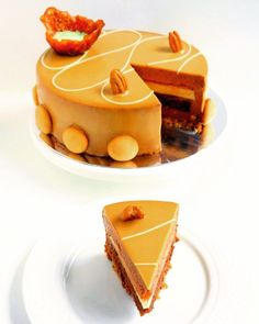 Entremet Tonka: Almond Chocolate biscuit orange coulis tonka vanilla creme nuts crumble chocolate mousse and caramel orange glaze by mfescg