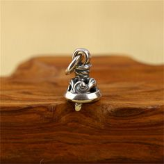 925 Sterling Silver Jingle Bell Little Small Bell Charm Pendant by SterlingSilverBox