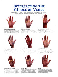 Divination:  #Palmistry ~ Interpreting the Girdle of Venus.