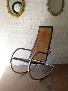 Italian Rocking Chair  Chrome and Ebonized Wood by contentshome, $695.00