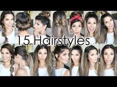 15 Easy Hairstyles - #hairstyles #easyhair #hairtutorial #hairdo