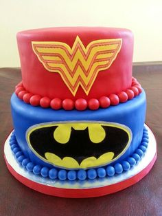 cake for girls boy and matching cake superman and 2235