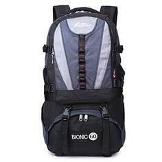 LIIREN Expandable Backpack Sport Camping Hiking Daypack 60L Sapphire -- For more information, visit image link.(This is an Amazon affiliate link and I receive a commission for the sales)