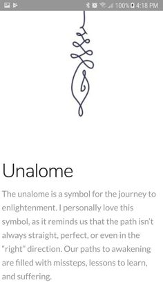 The unalome is a symbol for the journey of enlightenment.{Unalome} The unalome is a symbol for the journey of enlightenment. Unalome Tattoo, Simbols Tattoo, Body Art Tattoos, New Tattoos, Small Tattoos, Tatoos, Soul Tattoo, Tattoo Forearm, Saying Tattoos