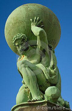 Statue of the god Atlas at Portmeirion. Close up of statue of Atlas located at P , Statue Tattoo, Atlas Sculpture, Sculpture Art, Greek Statues, Angel Statues, Atlas Tattoo, Angel Warrior, Art Folder, Face Art