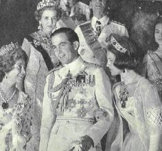 Wedding of Constantine of Greece and Anne-Marie of Denmark.  He used to hang out in front of the American Academy...