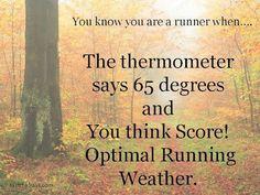 """Running weather."