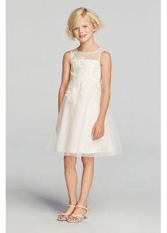 Lace Applique Illusion Neckline Tulle Dress WG1363