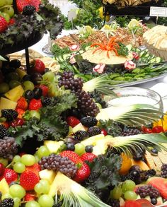 Wedding buffet pretty fruit trays
