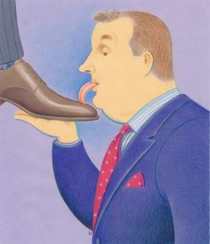 Licking Trump's Shoe