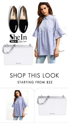 """SheIn Contest"" by goldenttt ❤ liked on Polyvore featuring Prada"