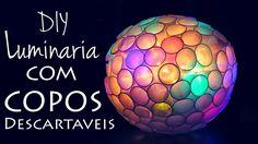 DIY: Luminaria de Copinhos e Pisca-Pisca  (Sparkle Ball)