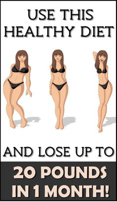Use This Healthy Diet And Lose Up To 20 Pounds In 1 Month!