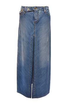 #D&G #DolceGabbana | Midi #Denim- #Skirt aus hellblauer Baumwolle, Gr.M | D&G Dolce & Gabbana Jeansrock | mymint-shop.com | Ihr Online Shop für #Secondhand / #Vintage #Designerkleidung & Accessoires bis zu -90% vom Neupreis das ganze Jahr #mymint