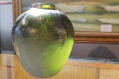 Watermelon Tourmaline, Leaf Design, Vintage Home Decor, Art Deco Fashion, Art Nouveau, Glass Art, Original Art, Carving, Vase