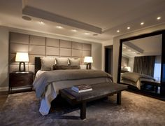 want recessed lighting over my bed with dimmers