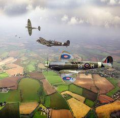 World War 2 Photograph - Spitfire Sweep Colour Version by Gary Eason Ww2 Aircraft, Fighter Aircraft, Military Aircraft, Fighter Jets, Military Jets, The Spitfires, Supermarine Spitfire, Ww2 Planes, Battle Of Britain