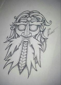 Slavic tattoo - god mask Stribog