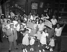 Italians in the community celebrate the ousting of Fascist dictator Mussolini in 1943.