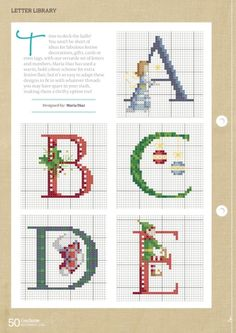 Thrilling Designing Your Own Cross Stitch Embroidery Patterns Ideas. Exhilarating Designing Your Own Cross Stitch Embroidery Patterns Ideas. Christmas Cross Stitch Alphabet, Cross Stitch Alphabet Patterns, Xmas Cross Stitch, Cross Stitch Letters, Cross Stitch Fabric, Cross Stitch Love, Needlepoint Patterns, Cross Stitch Samplers, Cross Stitch Kits