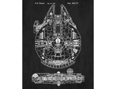 Star Wars Patent Print Millennium Falcon Poster Millennium Falcon Blueprint Man Cave Poster  Aged finish. One of a large collection of art posters I have for sale. Choose from a wide selection of background colours and print sizes.  _____________________________________________________________________ Available as a high quality giclee print in the following sizes:  20 x 30 inches  satin finish printed on A1 stock ( 841 x 594 mm) 33.1 x 23.4 inches making it ideal for mounting in a 30x20…