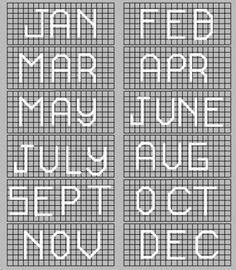 Plastic Canvas Calendar Pattern | Craftingranny's Craft & Sewing Room